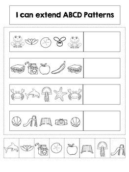 Interactive Math Notebook: Patterns