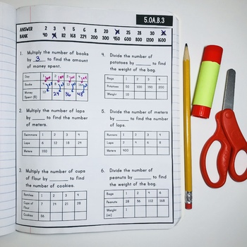 Interactive Math Notebook: Patterns & Graphing (Grade 5)
