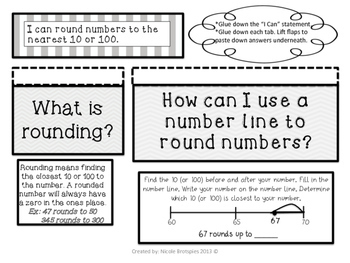 Interactive Math Notebook: Place Value & Rounding- Common Core Aligned!