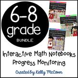 Interactive Math Notebook: Progress Monitoring Activities {Grades 6 to 8} BUNDLE