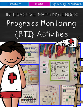 Interactive Math Notebook: Progress Monitoring RTI Activit