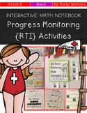 Interactive Math Notebook: Progress Monitoring RTI Activities {Grade 6}