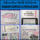 Interactive Math Notebook: Random Samples & Populations {Grade 7}
