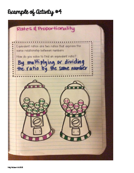 Interactive Math Notebook: Rates & Proportionality {Grade 7}