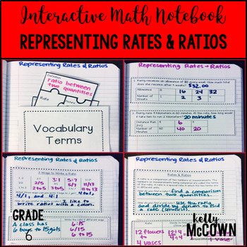 Interactive Math Notebook: Representing Rates & Ratios {Grade 6}
