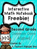 Interactive Math Notebook - Second Grade FREEBIE!