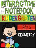 Interactive Math Notebook Set 3: Kindergarten Geometry