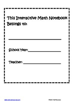 Interactive Math Notebook Set Up Guide
