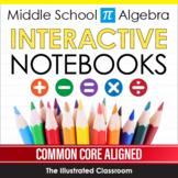 Middle School Algebra Interactive Notebooks & Graphic Organizers