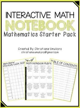 Interactive Math Notebook (Starter Pack)