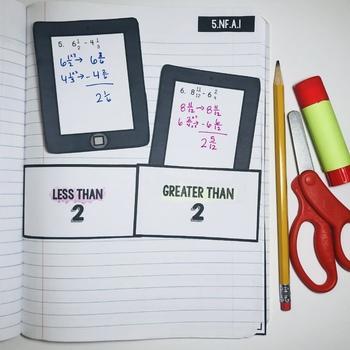 Interactive Math Notebook: Subtract Fractions with Unlike Denominators {Grade 5}
