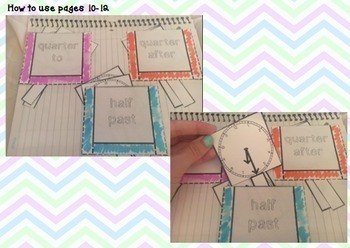 Interactive Math Notebook: Telling Time & Elapsed Time- Common Core 3.MD.A.1