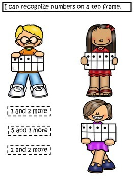 Interactive Math Notebook Ten Frame 5 and 10 Relationships