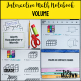 Interactive Math Notebook: Volume (Grade 5)