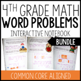 Interactive Math Notebook: 4th Grade Word Problems BUNDLE