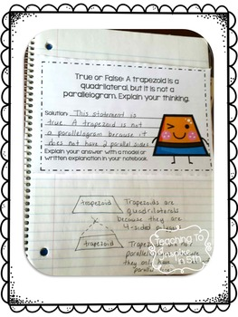 Interactive Math Notebook: Word Problems {Measurement & Data and Geometry}