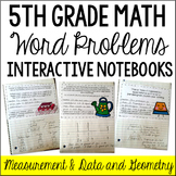 Interactive Math Notebook: Word Problems {Measurement & Da