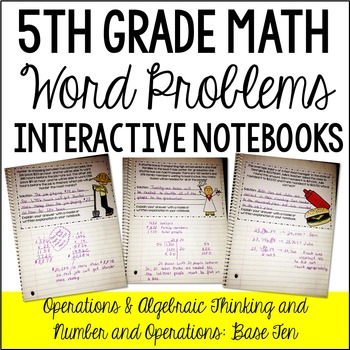 Interactive Math Notebook: Word Problems {OA and NBT}