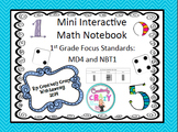 Interactive Math Notebook for 1st & 2nd Number Sense & Graphing; Test Prep