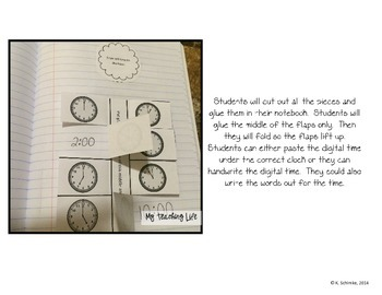 Interactive Math Notebook for 1st Graders: Measurement and Data