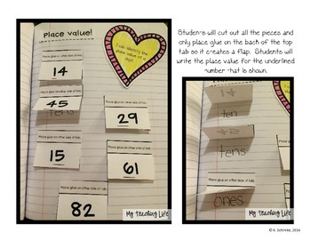 Interactive Math Notebook for 1st Graders: Numbers and Operations in Base Ten