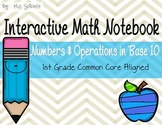 Interactive Math Notebook for 1st Graders: Numbers and Ope