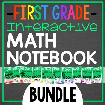 Interactive Math Notebook for 1st grade {BUNDLE: Daily entries for a YEAR}