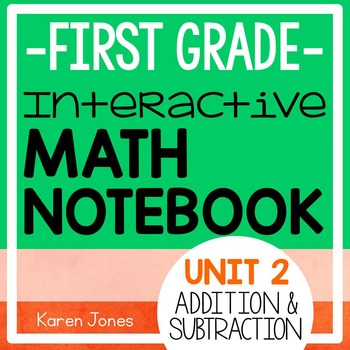 Interactive Math Notebook for 1st grade {Unit 2: Addition