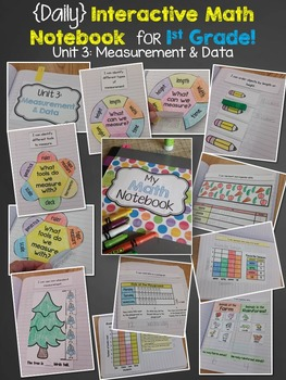 Interactive Math Notebook for 1st grade {Unit 3: Measurement & Data}
