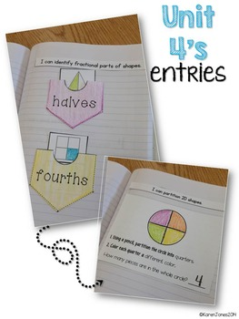 Interactive Math Notebook for 1st grade {Unit 4: Geometry}