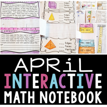 Interactive Math Notebook for April (Second Grade)