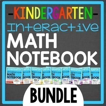Interactive Math Notebook for Kindergarten BUNDLE: Daily entries for a YEAR
