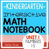 Interactive Math Notebook for Kindergarten {Unit 1: Numbers 1-5}