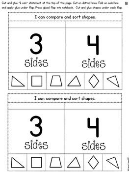 Interactive Math Notebook for Kindergarten {Unit 3: Shapes and Geometry}