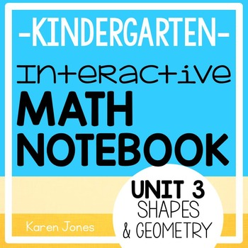 Interactive Math Notebook for Kindergarten {Unit 3: Shapes