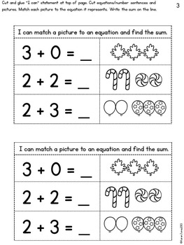Interactive Math Notebook for Kindergarten {Unit 4: Addition & Subtraction}