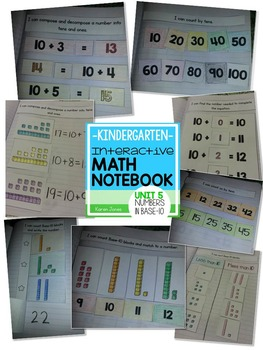 Interactive Math Notebook for Kindergarten {Unit 5: Numbers in Base 10}