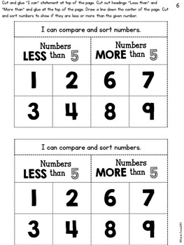 Interactive Math Notebook for Kindergarten {Unit 6: Comparing and Measuring}