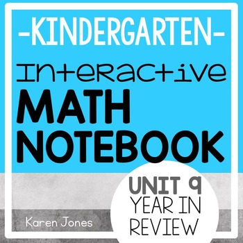 Interactive Math Notebook for Kindergarten {Unit 9: Year in Review}