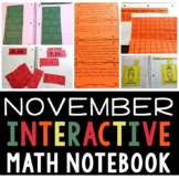 Interactive Math Notebook for November for Second Grade