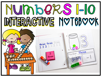 Interactive Math Notebook for Numbers 1-10 #presidentsdaydeals