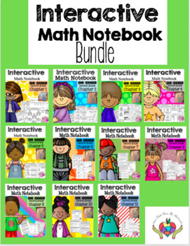 Interactive Math Notebook for Second Grade BUNDLE (Chapters 1-11)