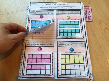 Interactive Math Notebook for Second Grade Go Math Chapter 1