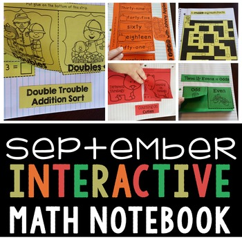 Interactive Math Notebook for September for Second Grade