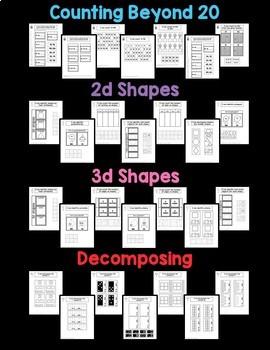 Interactive Math Notebook, number sense, shapes, measurement