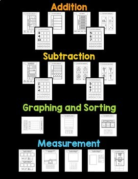 Interactive Math Notebook, number sense, shapes, measurement