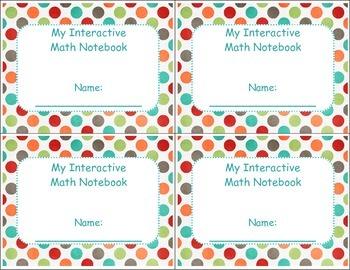 Interactive Math Notebook/Journal Cover