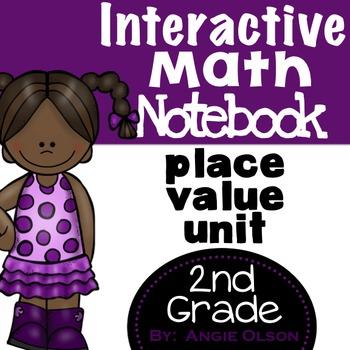 Fractions, Measurement, & Place Value Second Grade Math Notebook Bundle