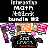 Fractions, Measurement, & Place Value Second Grade Math Notebook Bundle
