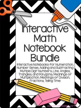 Interactive Math Notebooks- Bundle of Math Topics